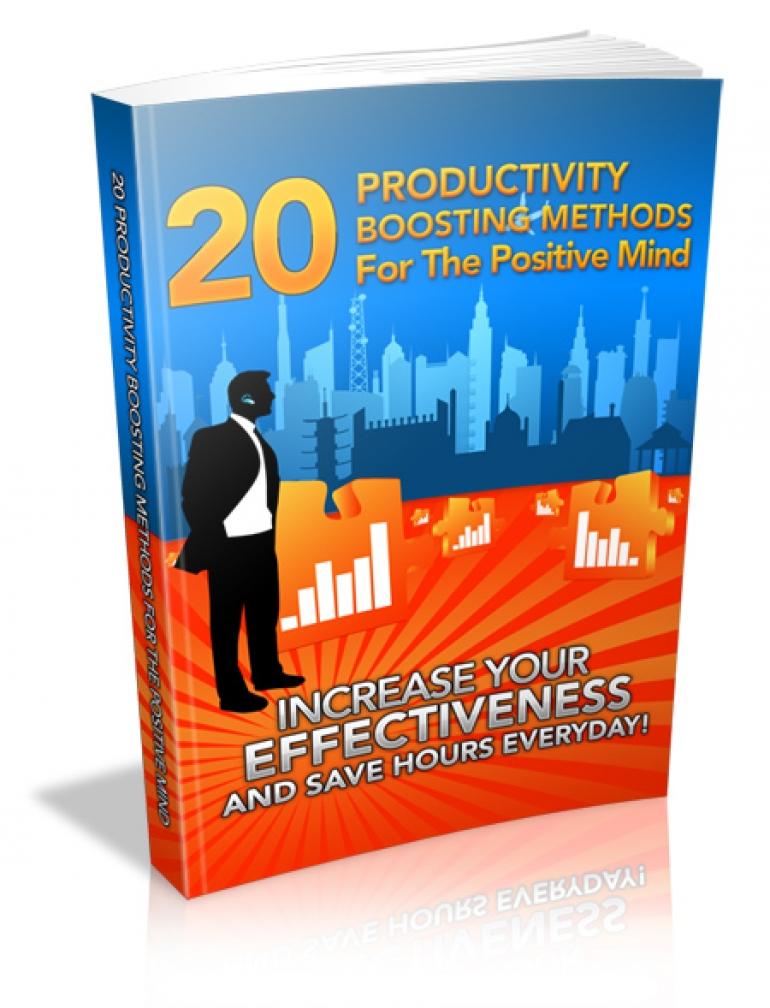 "Bonus E-Book: ""20 Productivity boosting methods for the positive mind"""